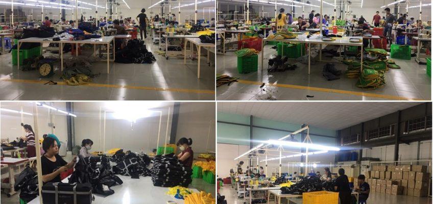 Xưởng sản xuất balo