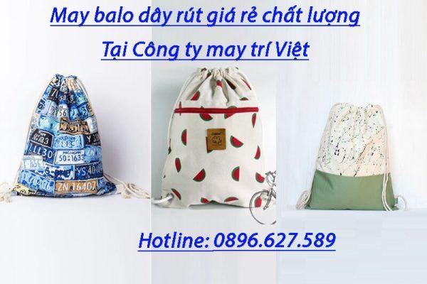 May balo dây rút giá rẻ, uy tín tại Công ty may Trí Việt