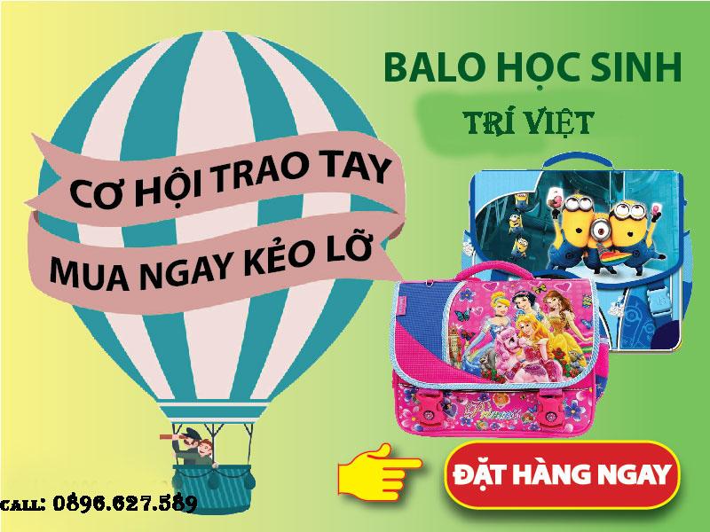 Các sản phẩm balo mầm non, tiểu học, trung học tại Trí Việt